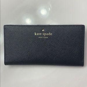 Kate Spade Black & White Long Wallet